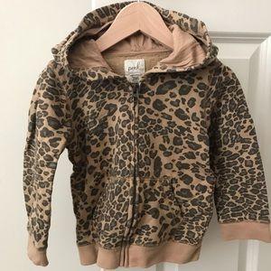 Peek leopard hoodie 18-24 months